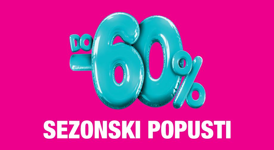 Mass akcija: SEZONSKI POPUSTI DO -60%