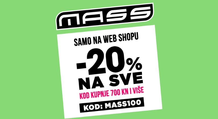 -20% na SVE s KODOM MASS100, kod kupnje 700 KN i više