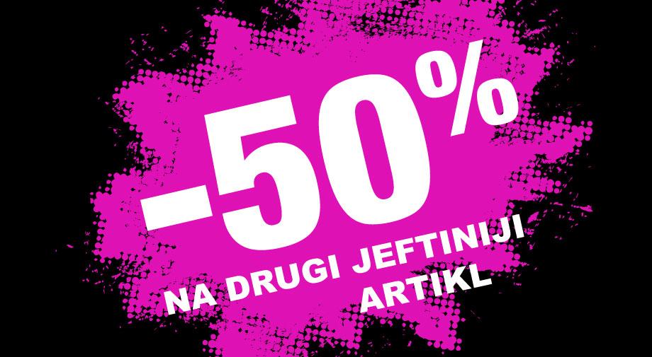 -50% na drugi, jeftiniji artikl na svu zatvorenu obuću i torbe