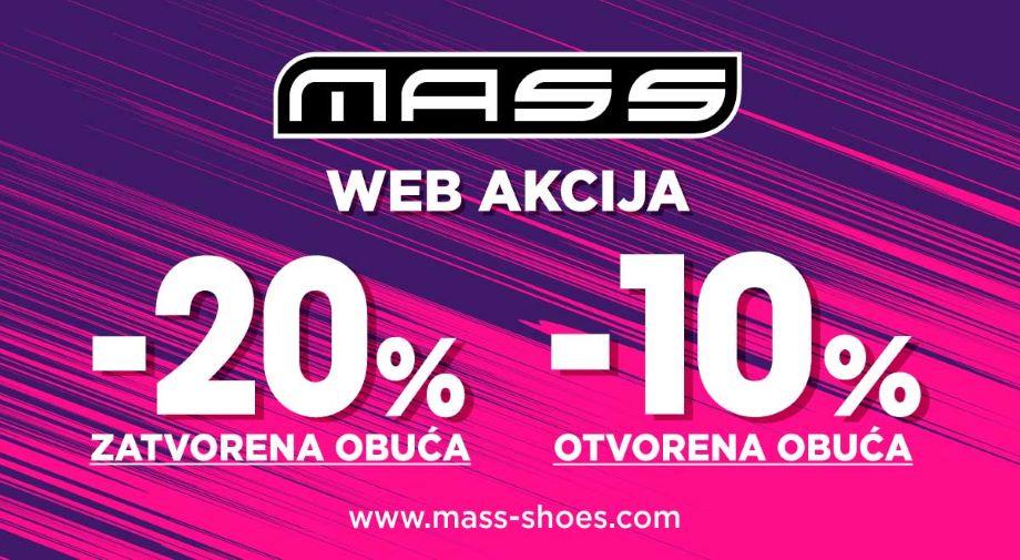 WEB AKCIJA -20% na zatvorenu i -10% na otvorenu obuću